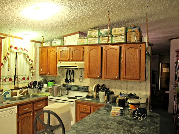 The kitchen tour a k a help me plan a room makeover - What to do with the space above kitchen cabinets ...